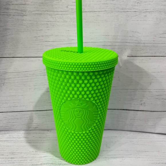 Starbucks neon green Tumbler